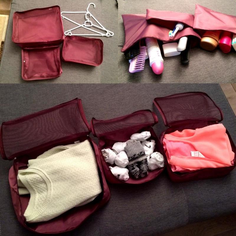 Set organizatoare pentru valiză - grena - Uz casnic | bestcasenice.ro